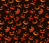 Seamless pattern with ghost faces — Stock Vector