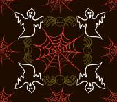 Seamless pattern with webs, spider — Stock Vector