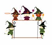 Halloween board — Stock Vector