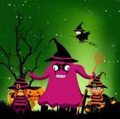 Halloween magical frame — Stock Vector