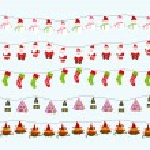 Seamless Christmas background — Stock Vector #58240435