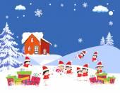 Christmas Cartoons — Stock Vector