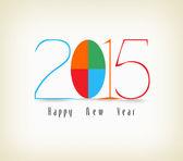 Happy new year color design — Vector de stock