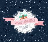 Poster Typography Merry Christmas — Stockvektor