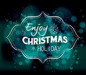 Enjoy christmas holiday — Stock Vector