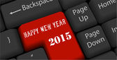 Happy nea year on enter keyboard — Wektor stockowy