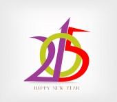 Happy new year text design — Stock Vector