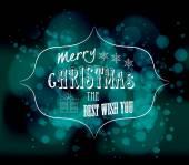 Merry christmas best wish you — Stock Vector