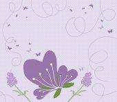 Abstract springtime purple — Stock Vector