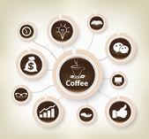 图表咖啡设计背景 — 图库矢量图片