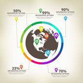 Infographic global Design Elements Vector — Stock Vector
