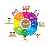 Kids Learning and Playing infographic — Stock Vector