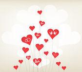 Fundo de amor com o dia dos namorados de corações — Vetor de Stock