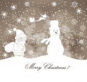Merry christmas winter background — Stock Vector