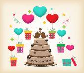 Retro Surprise Birthday — Stock Vector