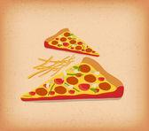Slice of Deluxe Pizza — Stock Vector