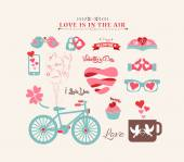 Valentine's day design, labels — Stock Vector
