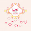 Valentine with hearts postcard — Stock Vector #61113335