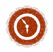 Vintage sign with clock — Stock Vector