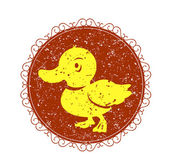 Vintage sign with duck — Stock Vector