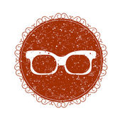 Vintage sign with eyeglasses. — Stock Vector