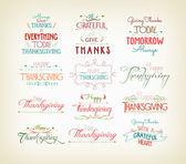 Vintage Typographic Thanksgiving Design Set — Stock Vector