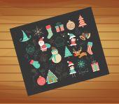 Winter Joy decoration — Stock Vector