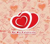 Be my valentine background — Stock Vector