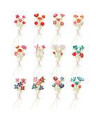 Flower Bouquets Clip Art — Stock Vector