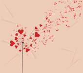 Valentines romantic background — Vector de stock