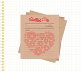 Happy valentines day notes retro — Stockvector