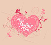 Happy valentines with heart florals — Stock Vector
