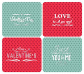 Set happy valentines day and weeding cards — Stock Vector