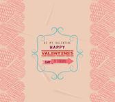 Valentine day greeting card frame retro — Stock Vector