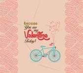 Valentine day greeting card retro — Stock Vector
