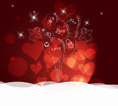 Valentines day abstract background — Stock Vector