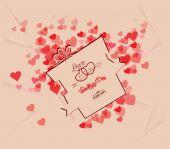 Valentines day gift background retro — Vector de stock