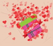 Valentine's day gift background — Vector de stock
