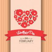 Valentines day greeting poster — Stock Vector