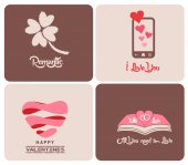 Vintage styled Valentines Day Card — Stock Vector