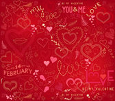 Valentines day ornate background — Stock Vector