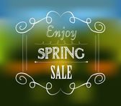 Enjoy spring sale typographic design — Stock Vector