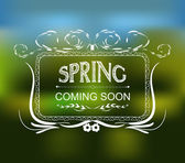 Spring coming soon typographic design — Stock Vector