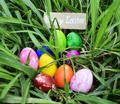 Barevné velikonoční vajíčko — Stock fotografie