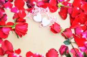 Happy Valentines day with Roses — Stock Photo