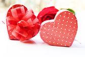 Valentines Day gift in silver box — Φωτογραφία Αρχείου
