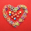 Heart made from wire and stars — Stock Photo #64525803