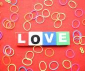 Walentynki miłość pozdrowienie — Zdjęcie stockowe
