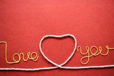 Serce wykonane z drutu — Zdjęcie stockowe