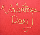 Valentines day made from wire — Stockfoto